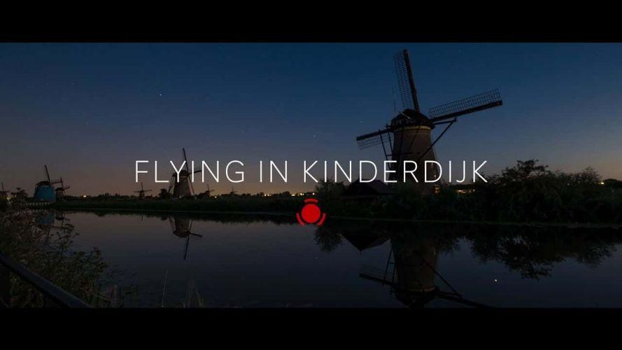 Flying in Kinderdijk
